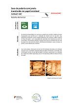 Saco de padaria com janela translúcida em papel reciclável