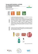 Incorporação de plástico reciclado em embalagens de produtos
